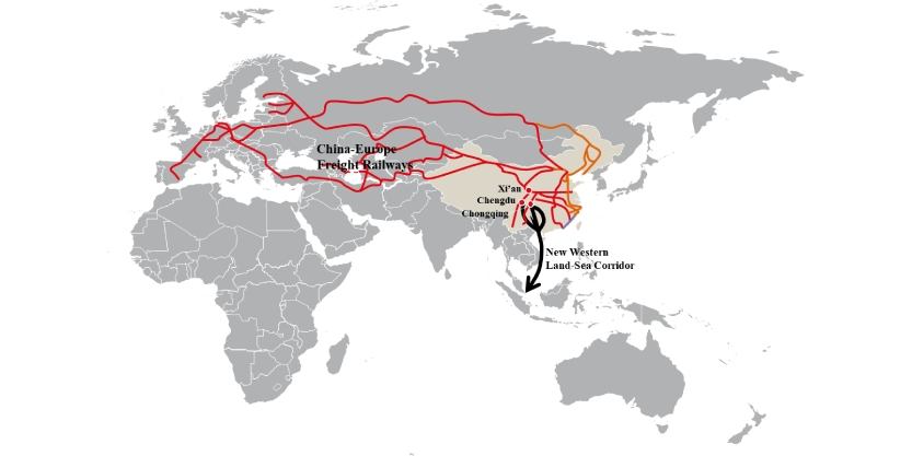 The belt and road initiative map